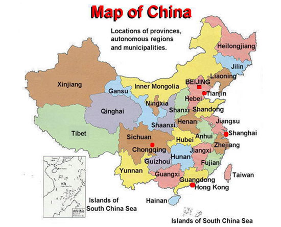folkartchinacoomInformation about China facts map of China